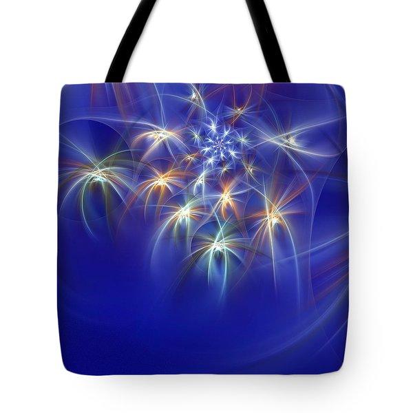 Fractal Fireworks Tote Bag