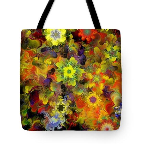Fractal Floral Study 10-27-09 Tote Bag