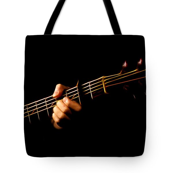 Tote Bag featuring the photograph Fractal Frets by Cameron Wood