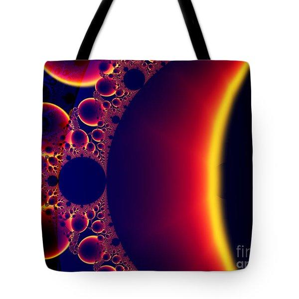 Fractal Galaxy Sunset  Tote Bag