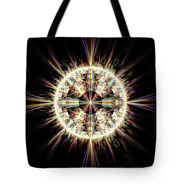 Tote Bag featuring the digital art Fractal Jewel by Bee-Bee Deigner