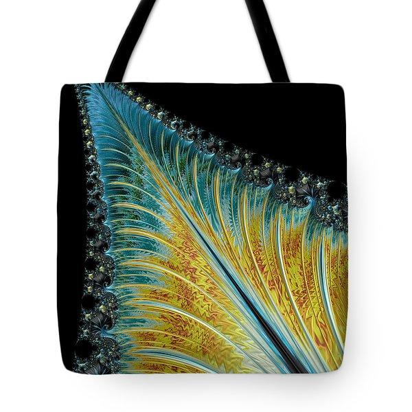Tote Bag featuring the digital art Fractal Leaf by Bill Barber