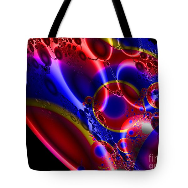 Fractal Luminescent Coloured Moon Tote Bag