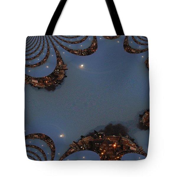Fractal Moon Tote Bag by Tim Allen