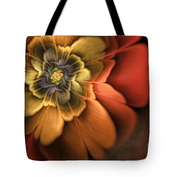 Fractal Pansy Tote Bag by John Edwards