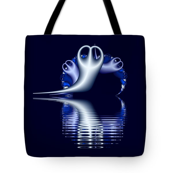 Fractal Peeble Ghosts Tote Bag