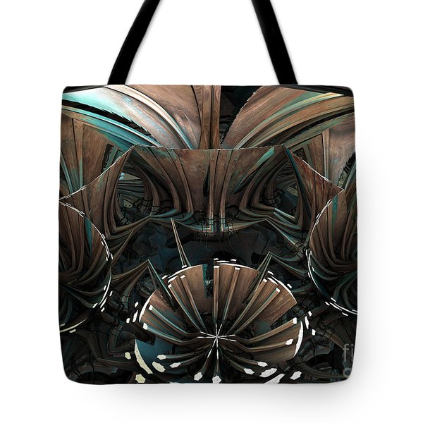 Tote Bag featuring the digital art Fractal Petals by Melissa Messick