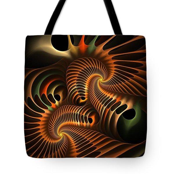 Fractal Spirochete Tote Bag