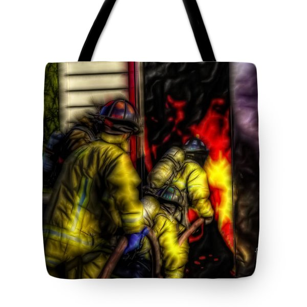 Fractalius Into The Mouth Of The Dragon Tote Bag