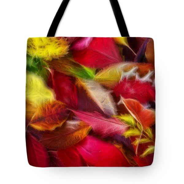 Fractalius Leaves Tote Bag