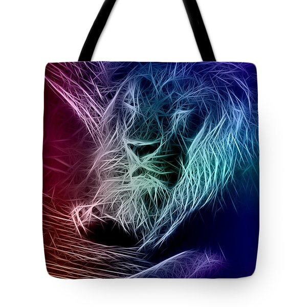 Fractalius Lion Tote Bag by Zedi