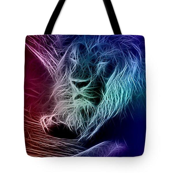 Fractalius Lion Tote Bag by Zedi
