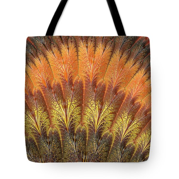 Fractalized Feather Fan Tote Bag