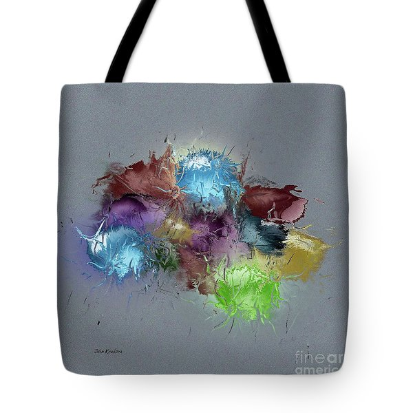 Fractured Bouqet 1 Pc Tote Bag by John Krakora