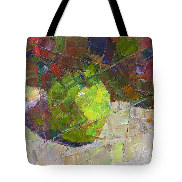 Fractured Granny Smith Tote Bag