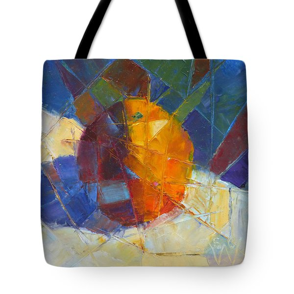 Fractured Orange Tote Bag