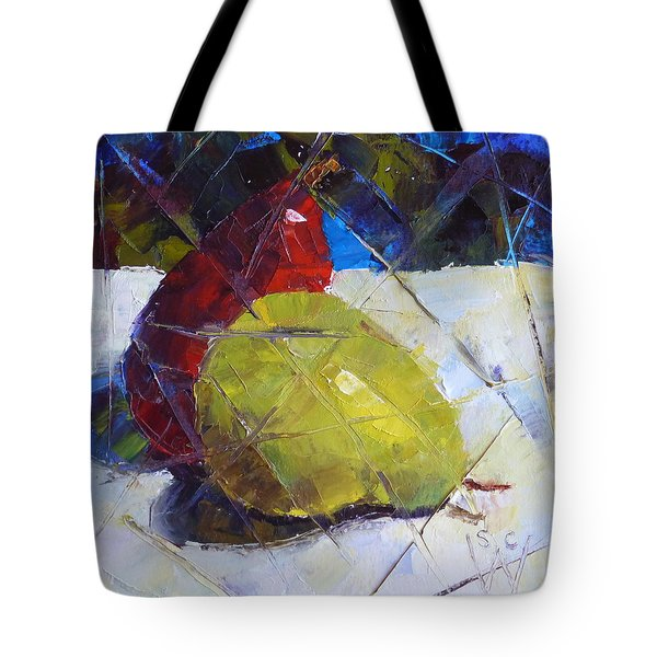 Fractured Pears Tote Bag