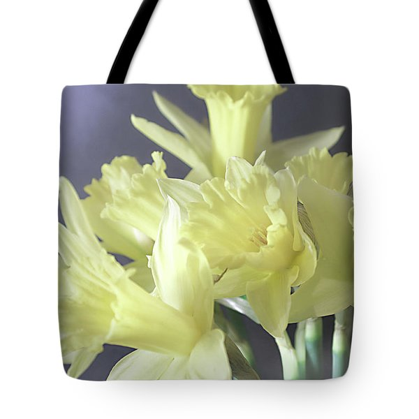 Fragile Daffodils Tote Bag by Jacqi Elmslie