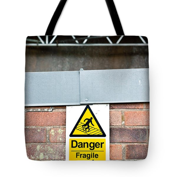 Fragile Roof Tote Bag