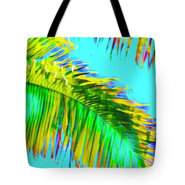 Fragment Of Coconut Palm Psychedelic Tote Bag