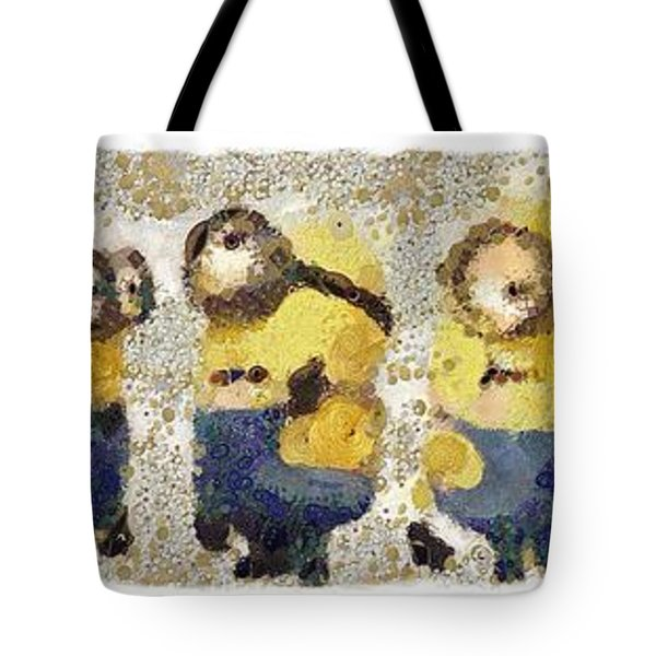 Fragmented And Still In Awe Congratulations Minions Tote Bag