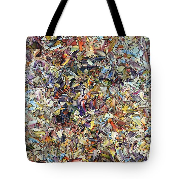 Tote Bag featuring the painting Fragmented Horse by James W Johnson