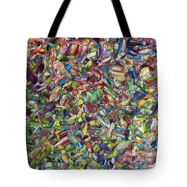Tote Bag featuring the painting Fragmented Spring by James W Johnson