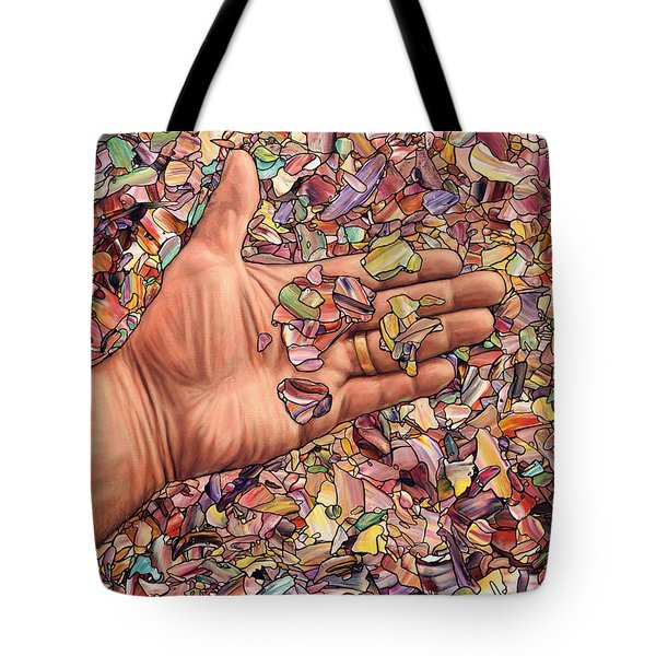 Fragmented Touch Tote Bag