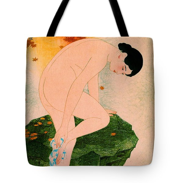 Fragrant Bath 1930 Tote Bag by Padre Art