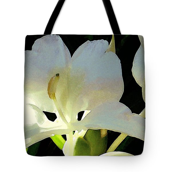 Fragrant White Ginger Tote Bag by James Temple