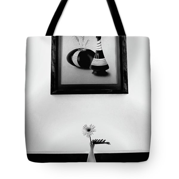 Frame And Flower Tote Bag by Charuhas Images