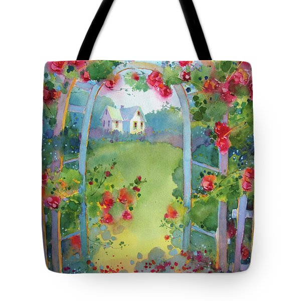 Framed By The Roses Tote Bag