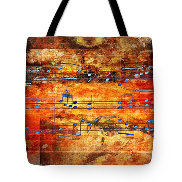 Framed Heterophony Tote Bag by Lon Chaffin
