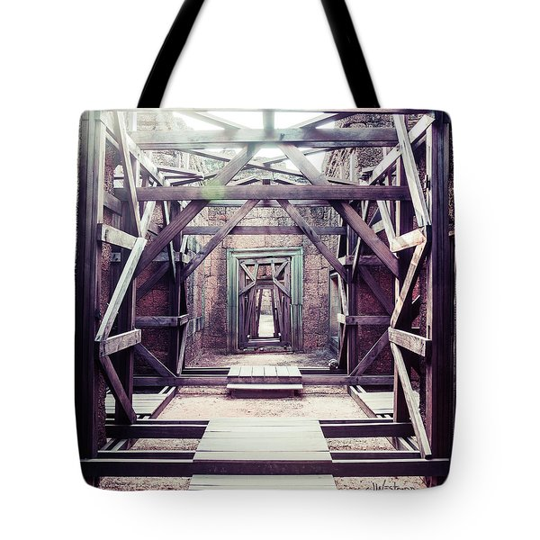 Tote Bag featuring the photograph Framework by Joseph Westrupp