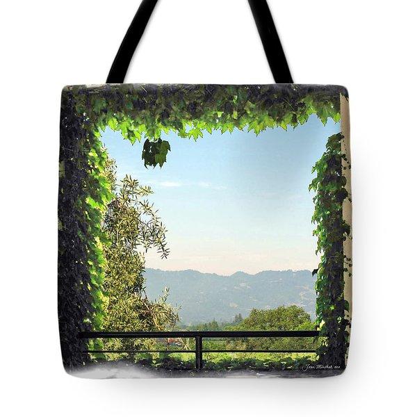 Tote Bag featuring the photograph Framing Napa Valley by Joan  Minchak