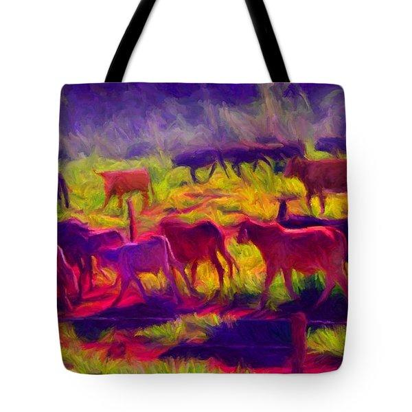 Franca Cattle 1 Tote Bag