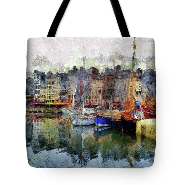 France Fishing Village Tote Bag by Claire Bull