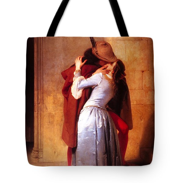 Francesco Hayez Il Bacio Or The Kiss Tote Bag by Pg Reproductions
