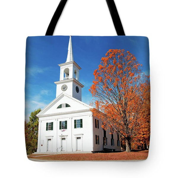 Tote Bag featuring the photograph Francestown Meeting by Wayne Marshall Chase