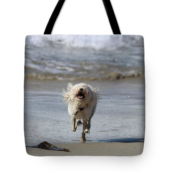 Francis Frockling In The Surf Tote Bag
