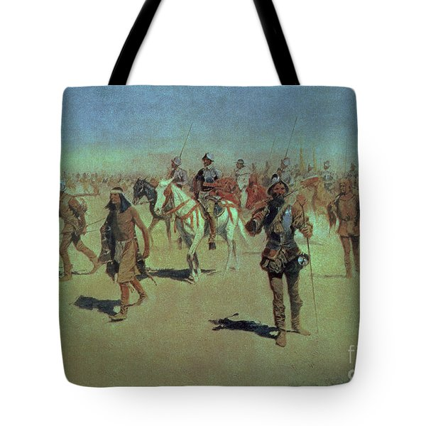 Francisco Vasquez De Coronado Making His Way Across New Mexico Tote Bag