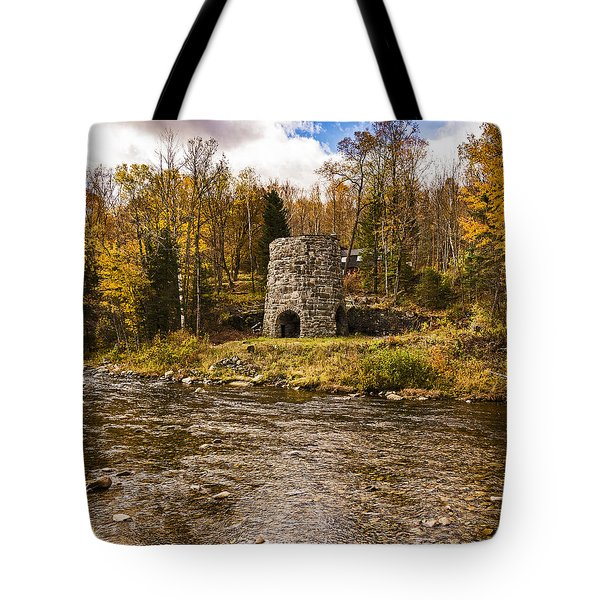 Tote Bag featuring the photograph Franconia Fall by Anthony Baatz