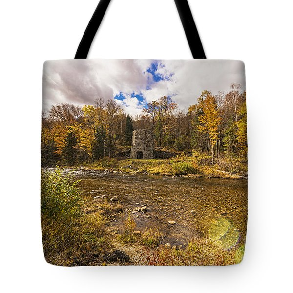 Tote Bag featuring the photograph Franconia Iron Works by Anthony Baatz