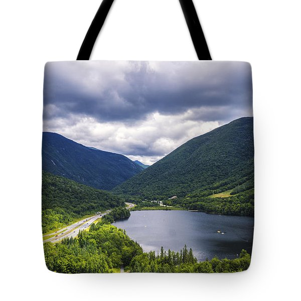 Franconia Notch And Eagle Lake Tote Bag