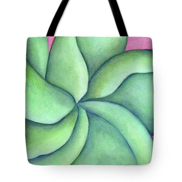 Frangipani Green Tote Bag