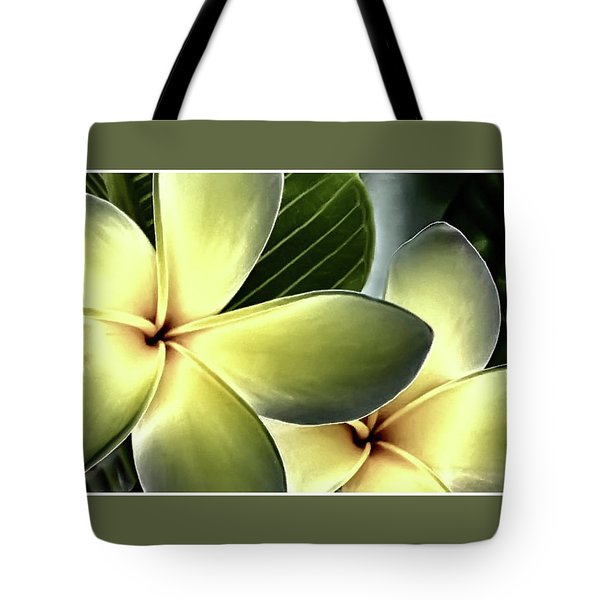 Frangipani - Plumeria Tote Bag