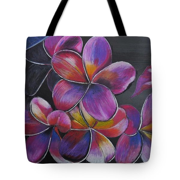 Tote Bag featuring the pastel Frangipani  by Richard Le Page