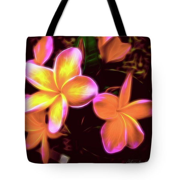 Frangipanis On The Glow Tote Bag