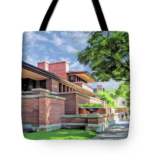 Frank Lloyd Wright Robie House Tote Bag