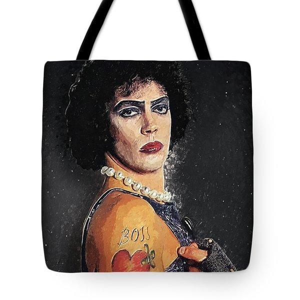 Tote Bag featuring the digital art Frank N Furter by Taylan Apukovska